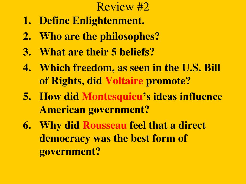 PPT - The Enlightenment Part I PowerPoint Presentation ...