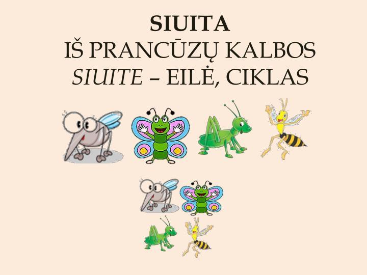 Siuita i pranc z kalbos siuite eil ciklas