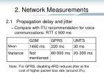 2 network measurements3