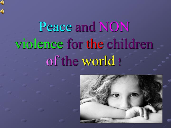 peace at home peace in the world essay