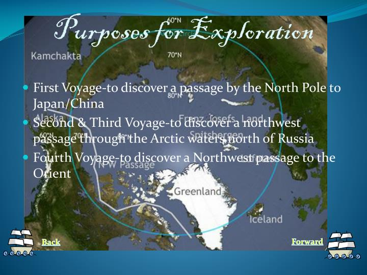 Purposes for exploration
