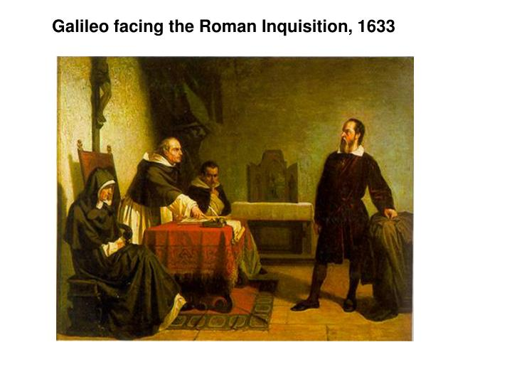 Galileo facing the Roman Inquisition, 1633
