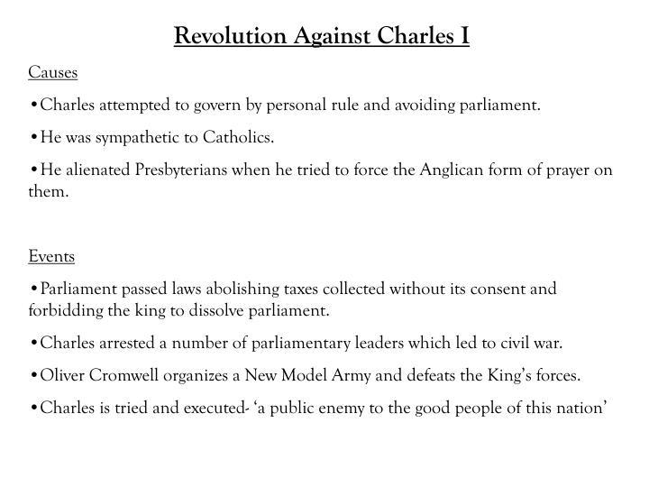 Revolution Against Charles I