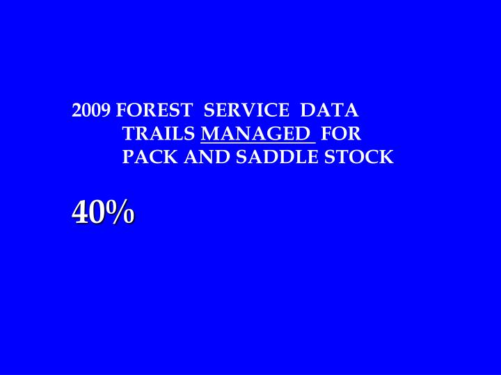 2009 FOREST  SERVICE  DATA