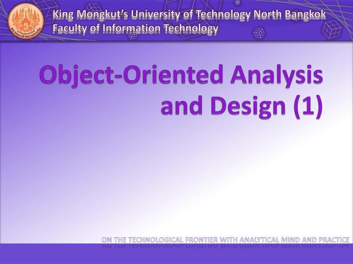 object oriented analysis and design 1 n.