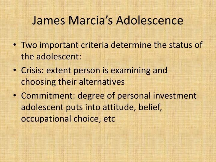 James Marcia's Adolescence