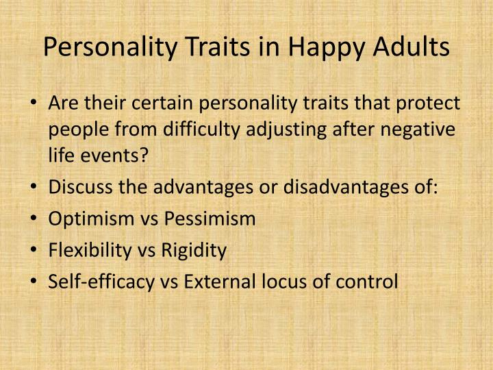 Personality Traits in Happy Adults