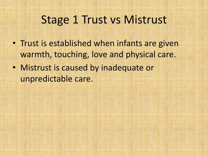 Stage 1 Trust vs Mistrust