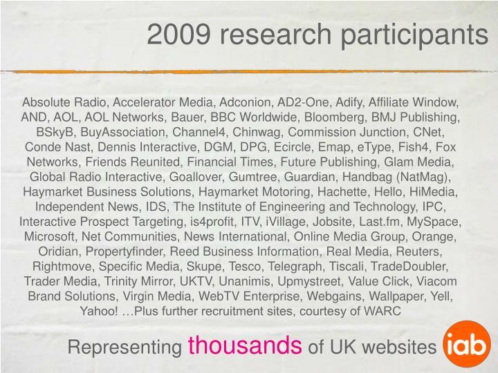 2009 research participants