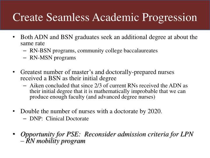 Create Seamless Academic Progression