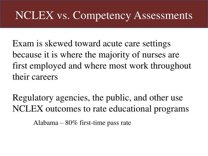 NCLEX vs. Competency Assessments