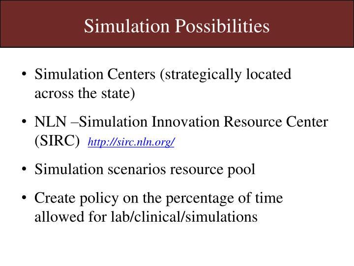 Simulation Possibilities