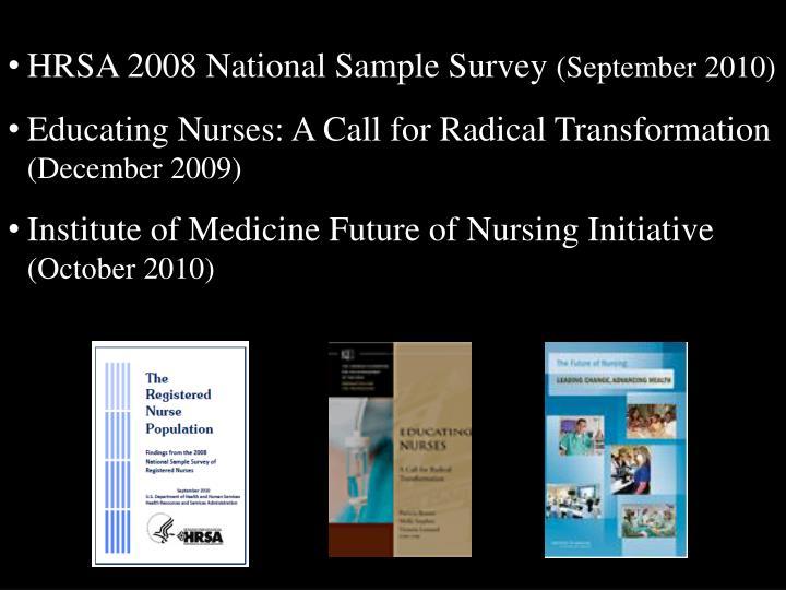 HRSA 2008 National Sample Survey