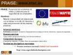 praise www etsc eu