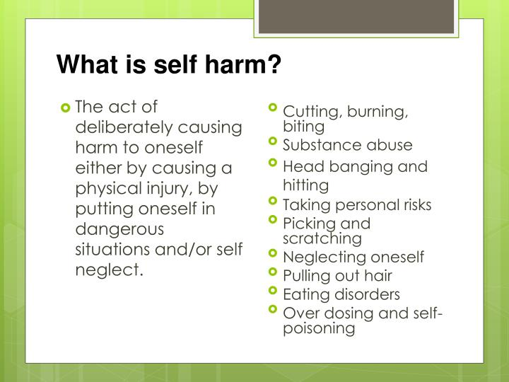 What is self harm