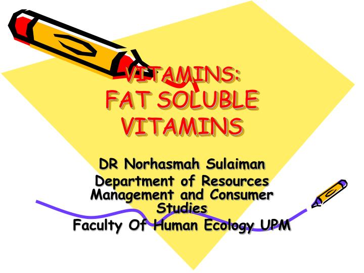 a study of the fat soluble vitamins and the human body The vitamins a, d, e and k are fat soluble vitamins - common misconceptions the human body can't store protein.