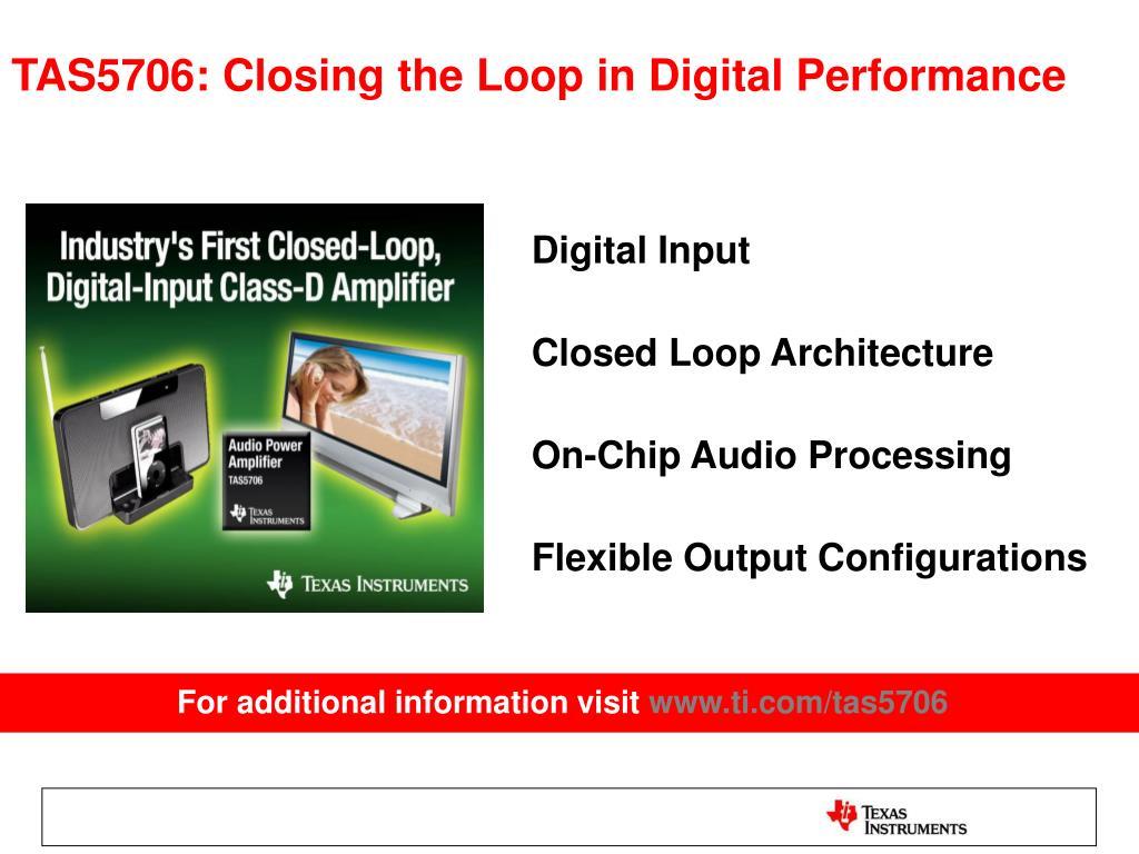 PPT - TAS5706 PowerPoint Presentation - ID:2741783
