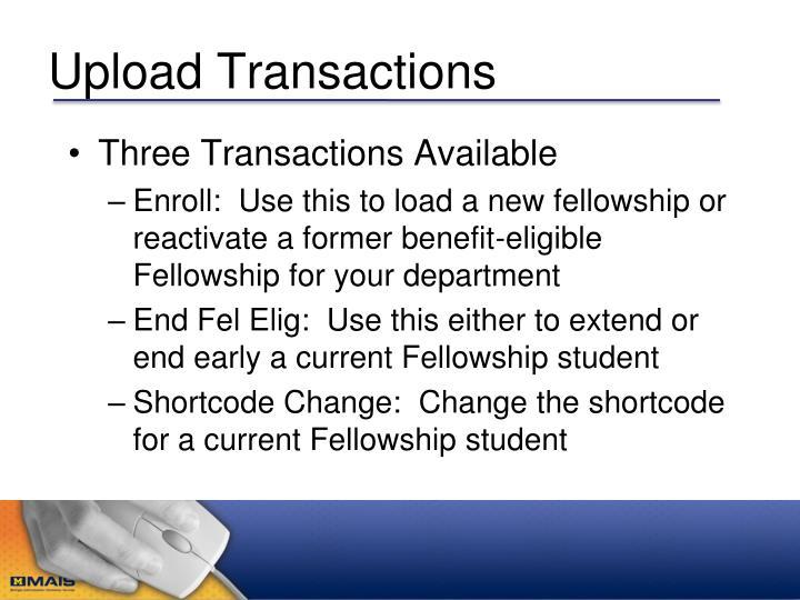 Upload Transactions