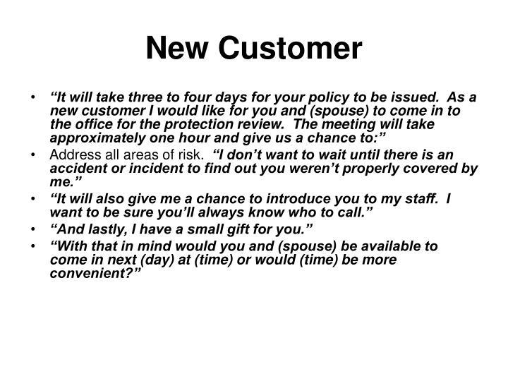 New Customer