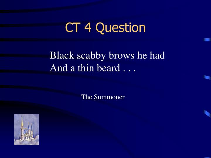 CT 4 Question