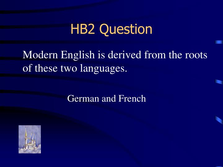 HB2 Question