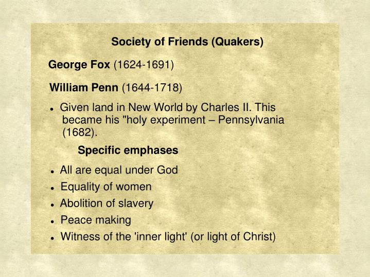Society of Friends (Quakers)