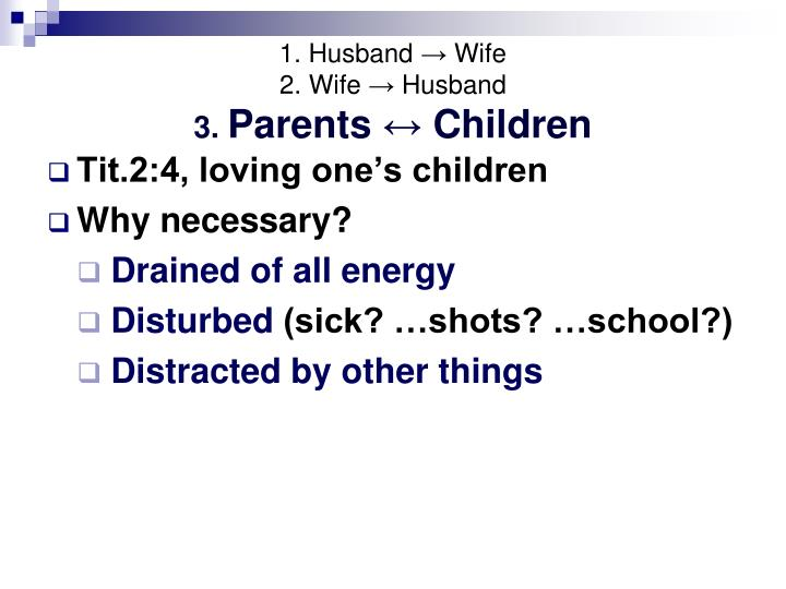 1. Husband → Wife