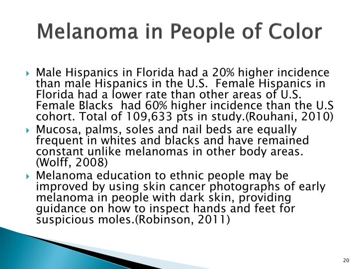 Melanoma in People of Color