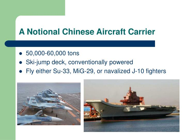 A Notional Chinese Aircraft Carrier