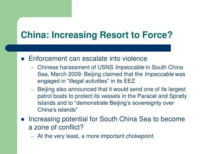 China: Increasing Resort to Force?