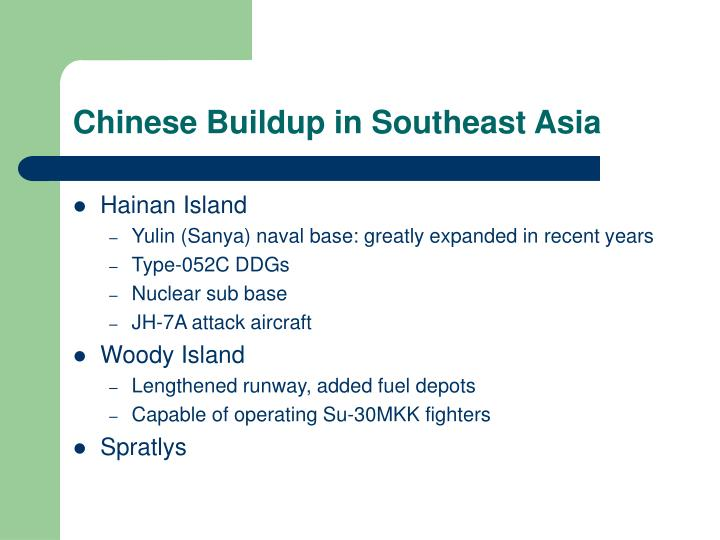 Chinese Buildup in Southeast Asia