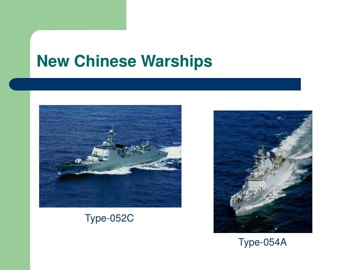 New Chinese Warships