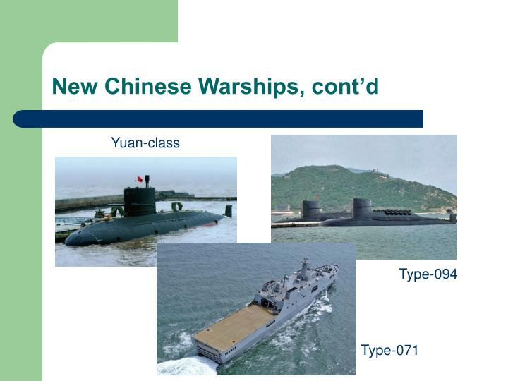 New Chinese Warships, cont'd