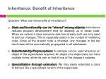 inheritance benefit of inheritance