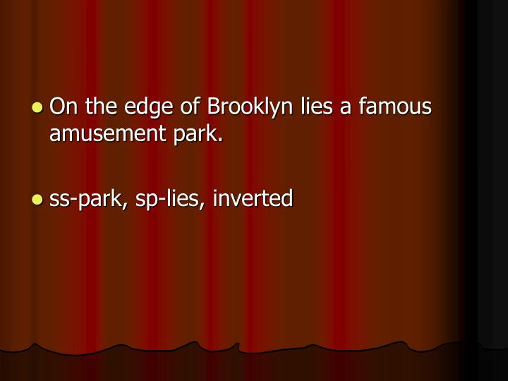 On the edge of Brooklyn lies a famous amusement park.
