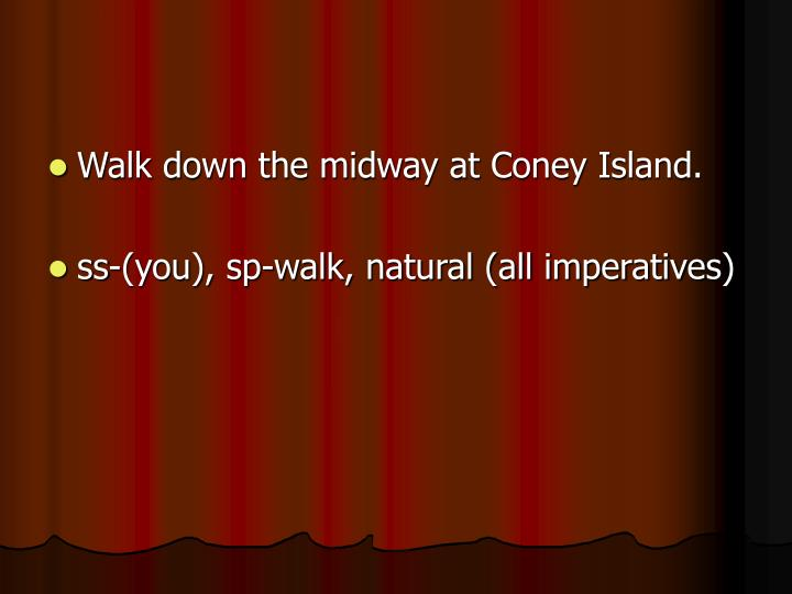 Walk down the midway at Coney Island.