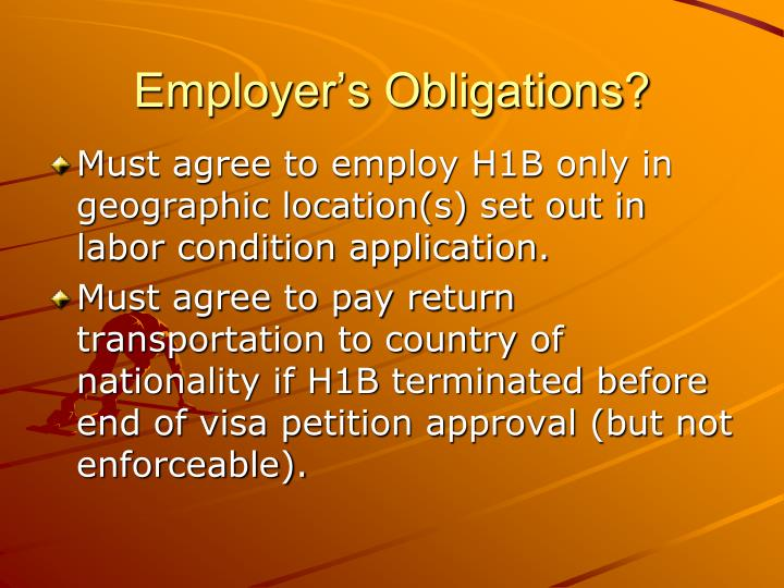 Employer's Obligations?