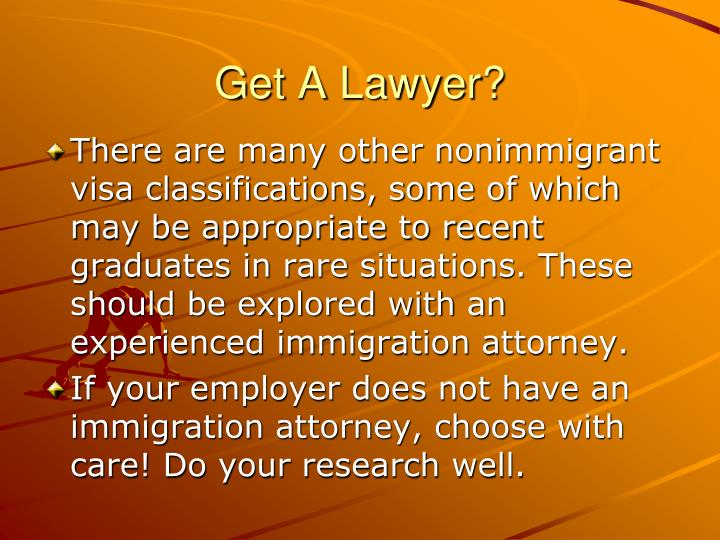 Get A Lawyer?