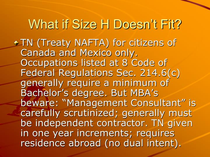 What if Size H Doesn't Fit?