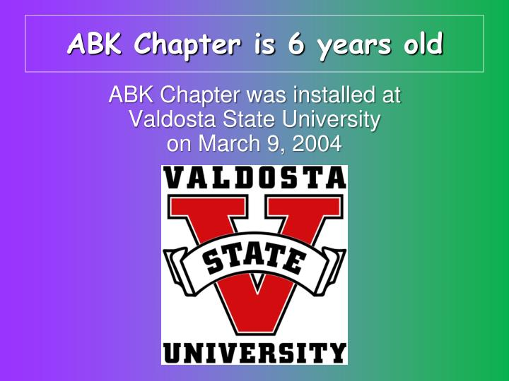 ABK Chapter is