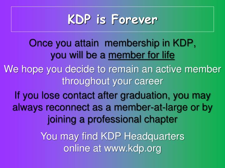 KDP is Forever