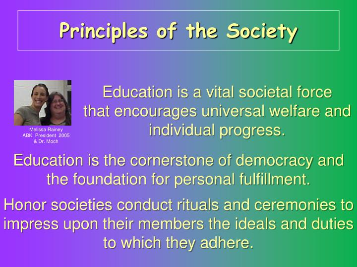 Principles of the Society