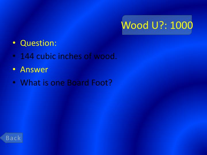 Wood U