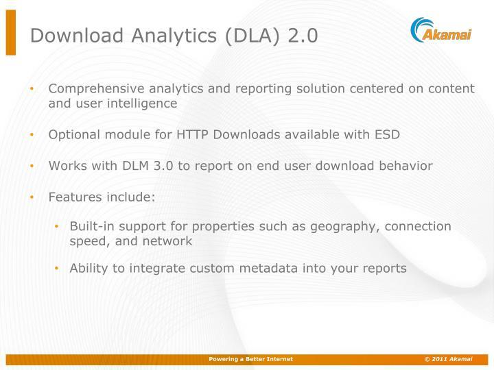 Download Analytics (DLA) 2.0