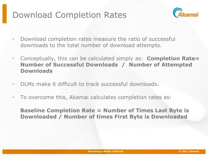 Download Completion Rates