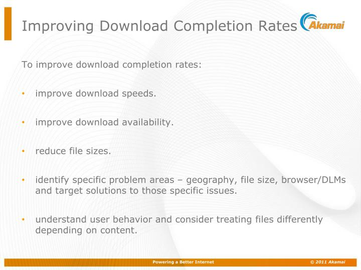 Improving Download Completion Rates
