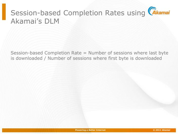 Session-based Completion Rates using Akamai's DLM
