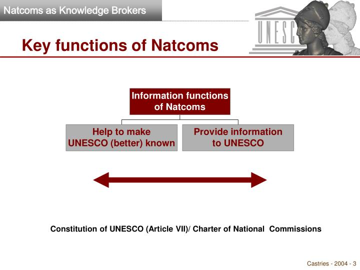 Key functions of natcoms