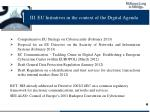 iii eu initiatives in the context of the digital agenda