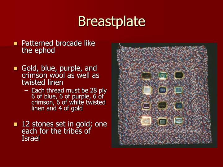 Patterned brocade like the ephod